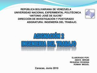 REP BLICA BOLIVARIANA DE VENEZUELA      UNIVERSIDAD NACIONAL EXPERIMENTAL POLIT CNICA  ANTONIO JOS  DE SUCRE  DIRECCI N