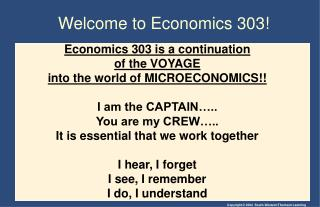 Welcome to Economics 303!