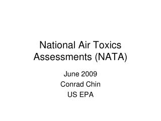 National Air Toxics Assessments (NATA)