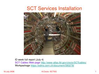 SCT Services Installation