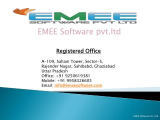Registered Office  A-109 , Sahani Tower, Sector-5,  Rajender  Nagar, Sahibabd, Ghaziabad