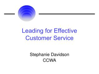 Leading for Effective Customer Service