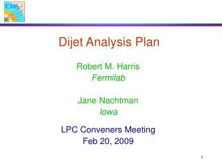 Dijet Analysis Plan