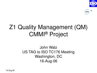 Z1 Quality Management QM CMMI  Project