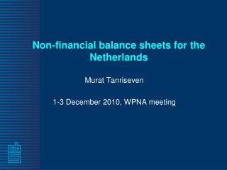 Non-financial balance sheets for the Netherlands