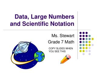 Data, Large Numbers and Scientific Notation