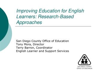 Improving Education for English Learners: Research-Based Approaches