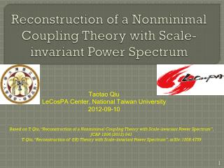 Reconstruction of a  Nonminimal  Coupling Theory with Scale-invariant Power Spectrum
