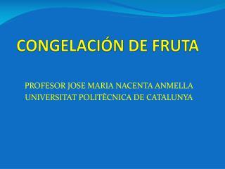 CONGELACIÓN DE FRUTA