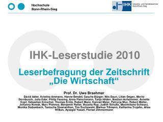 IHK-Leserstudie 2010