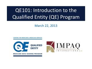 QE101: Introduction to the Qualified Entity (QE) Program
