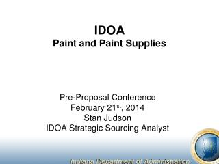 IDOA Paint and Paint Supplies