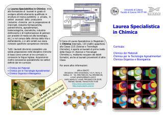 Università di Catania Facoltà di Scienze MM FF NN