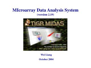 MIcroarray Data Analysis System (version  2.19 )
