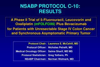NSABP PROTOCOL C-10: RESULTS