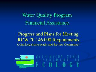 Water Quality Program Financial Assistance