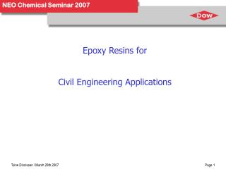 Epoxy Resins for Civil Engineering Applications