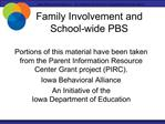 Family Involvement and School-wide PBS