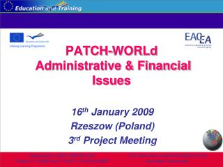 PATCH- WORLd  Administrative & Financial Issues
