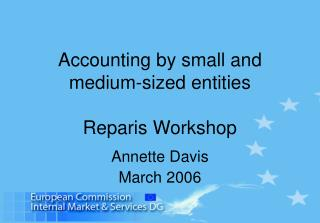 Accounting by  small and medium-sized entities Rep aris Workshop