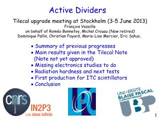 Active Dividers