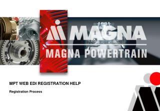 MPT WEB EDI REGISTRATION HELP