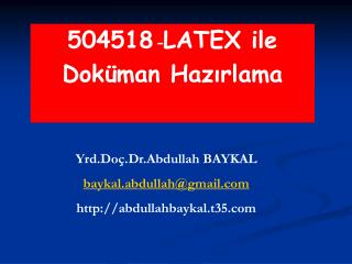 504518 -LATEX ile  Dok man Hazirlama