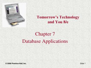 Tomorrow's Technology  and You 8/e