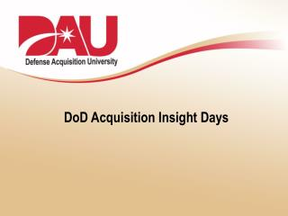 DoD Acquisition Insight Days
