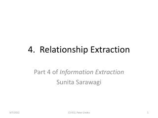 4.  Relationship Extraction