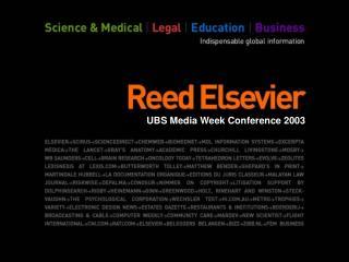UBS Media Week Conference 2003