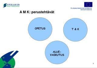 A M K: perustehtävät