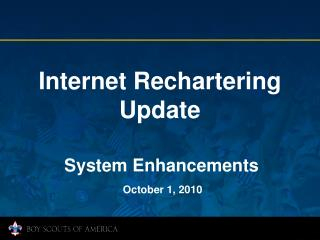 Internet Rechartering Update