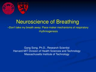 Gang Song, Ph.D., Research Scientist Harvard-MIT Division of Health Sciences and Technology