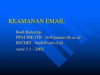 KEAMANAN EMAIL