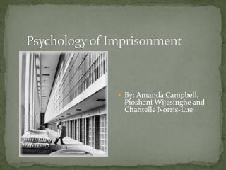 Psychology of Imprisonment