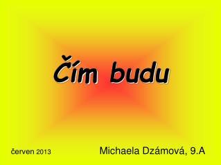 červen  2013 Michaela Dzámová ,  9.A