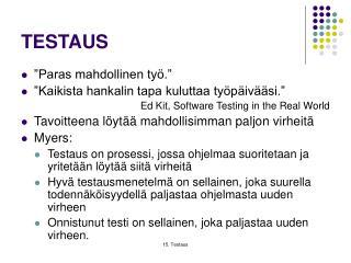 TESTAUS