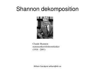 Shannon dekomposition