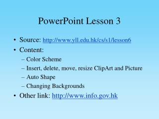 PowerPoint Lesson 3