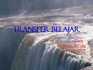 TRANSFER BELAJAR