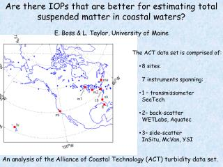 Are there IOPs that are better for estimating total suspended matter in coastal waters?