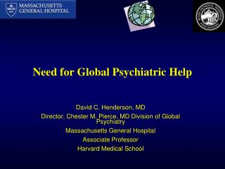 Need for Global Psychiatric Help