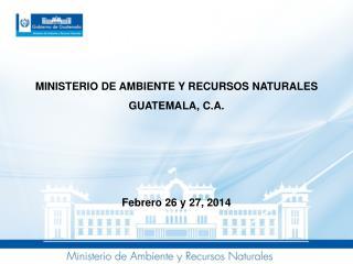 MINISTERIO DE AMBIENTE Y RECURSOS NATURALES GUATEMALA, C.A. Febrero 26 y 27, 2014