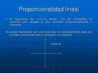 Proporcionalidad lineal