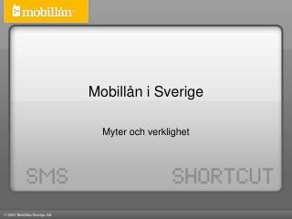 Mobill�n i Sverige