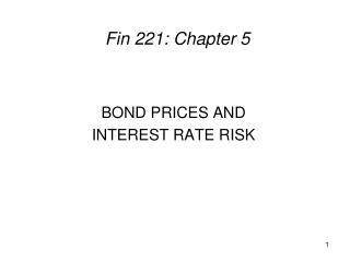 Fin 221: Chapter 5