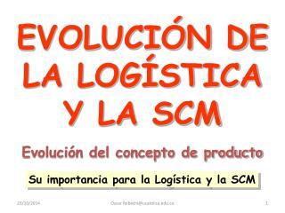 EVOLUCIÓN DE LA LOGÍSTICA Y LA SCM