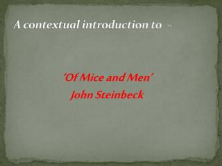 A contextual introduction to  –