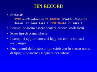 TIPI RECORD